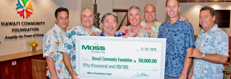Moss Foundation Donation