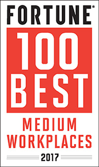 Fortune 100 Best Medium Workplaces 2017